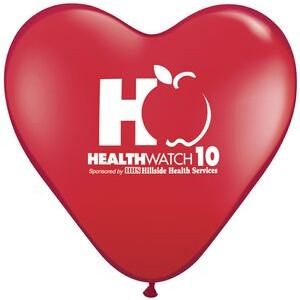 "11"" Qualatex Heart Standard Color Latex Balloon"